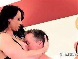 Alura Jenson milf threeway pulverize with Brandi May