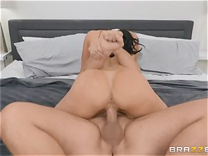 older brunette cutie Kendra passion railing fuckpole
