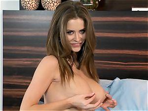 beauty Emily Addison luvs pinching her firm nips