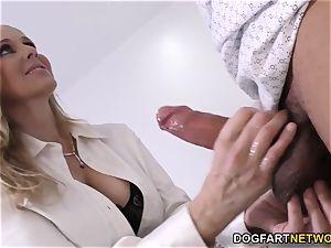 cougar physician Julia Ann Cures black fuck-stick