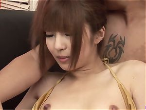 super-sexy group act in gonzo for Kotone Aisaki