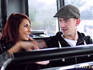 Madison Ivy and Jasmine Jae are torn up on a bus
