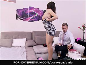 pornography ACADEMIE Lana Rhoades enjoys boinking French meatpipe