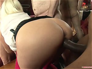 Michelle Thorne and young tramp gangbang boink with gang