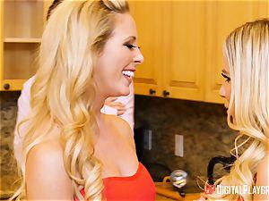 wifey Olivia Austin and ex wife Cherie Deville beaten in the kitchen