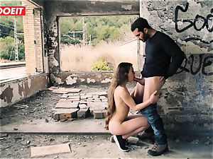 LETSDOEIT - puny French nubile boinked hard In Outdoors