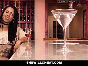 SheWillCheat - cheating wifey nails bbc in bathroom