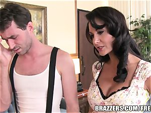 Brazzers - Ava Addams - 2 hungry gullets on His penis
