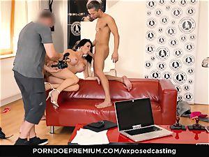 uncovered casting - pornography star Jasmine Jae MMF three way