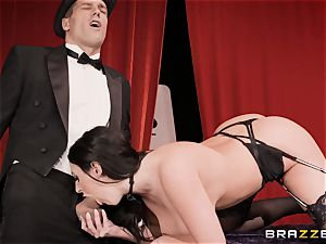ass fucking pummeling fat huge-titted mounds Angela white on a magic showcase