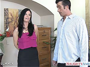 fine brown-haired India Summer ravaging