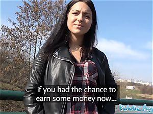 Public Agent Russian waitress boned outside in public