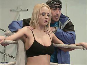 Mandy Dee had a cat fight with a insatiable mega-slut