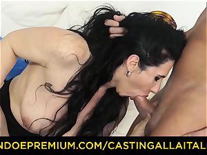 casting ALLA ITALIANA black-haired nymphomaniac tough rectal hump