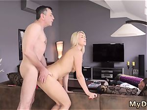 dad care drowsy stud missed how his daddy pokes his girlcrony