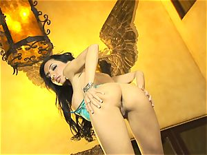 ultra-cute in undergarments, Lela star shows off her slinky erotic dance moves