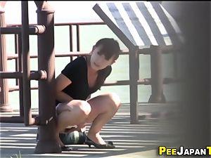 chinese nubile urinate public