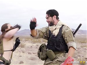 iron Gear Solid five anal pornography parody with naughty black-haired Casey Calvert