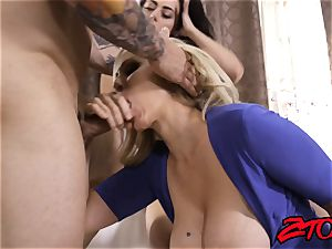 Julia Ann and Whitney milky treat chisel