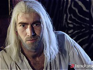 Danny D fools around as Geralt and screws black-haired babe