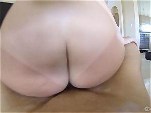 ultra-cute Keisha Grey pummeled point of view