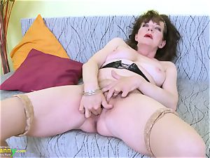 OldNannY hairy grandmother slit playing getting off