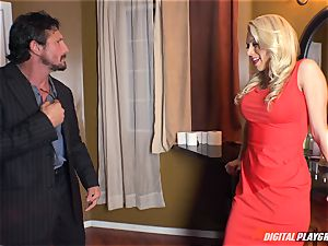 Katie Morgan has that pretty pink snatch fucked in the toilets