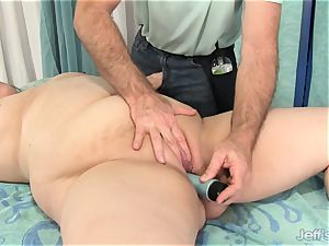 plumper Gets Her assets, gash and bum fondled