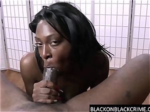 highly harsh point of view suck on a big black cock