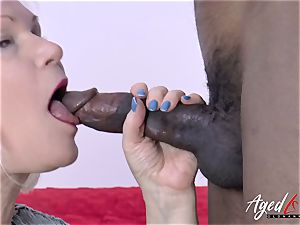 AgedLovE Lacey Starr and dark-hued guy xxx
