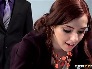 crimson super hot secretary Ember Stone penalized by her chief
