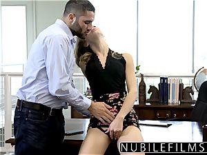 NubileFilms - Office super-bitch romped Till She splashes