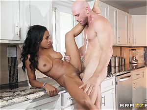 firm beef whistle humps into super-hot ebony honey Anya Ivy