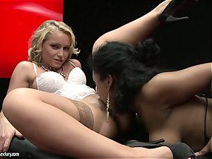stunning Kathia Nobili enjoys finger fuckin' her accomplices tastey raw slit crevice