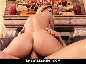cheating hubby watches Wifes coochie Get wrecked