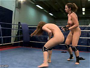 Eliska Cross and Lisa sparkle get nude and struggle rigid