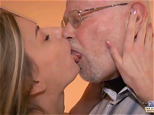 youthful secretary porks aged stud manager romps gorgeous girl
