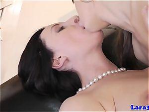 diminutive hottie slaps her crazy mature buddy
