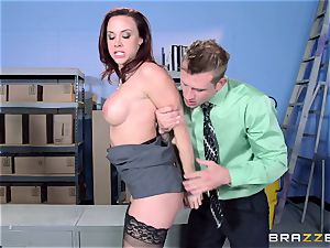 Chanel Preston humps her mind-blowing stud at work
