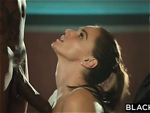 BLACKED Tori dark-hued Is greased Up And dominated By 2 BBCs