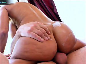 Lisa Ann enjoys sitting into Toni Ribas immense man-meat