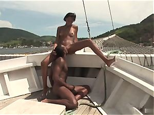 Jessica Baya is taking a ride on her boyfriends yacht, where they get