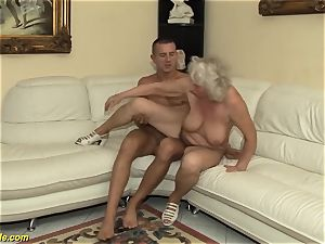 75 years old grandmother first-ever porno vid