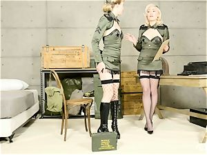 Lily Labeau and Ivy Wolfe army honies cootchie have fun
