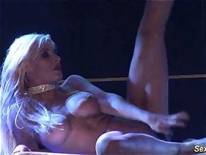 horny flexi stepmom bare on stage