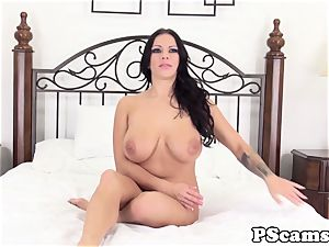 Lylith LaVey gets gloppy mammories on web cam showcase