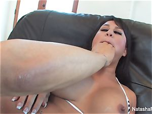 big-chested babes Natasha adorable and Kayme Kai share a fuckpole