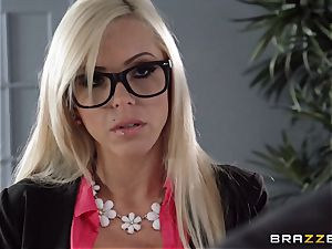 red-hot manager Nina Elle seduces her employee