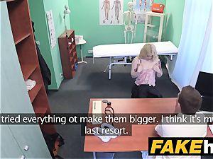 faux clinic Fit blond sucks man sausage