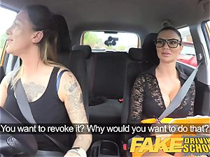 fake Driving college new driver gets a crash course